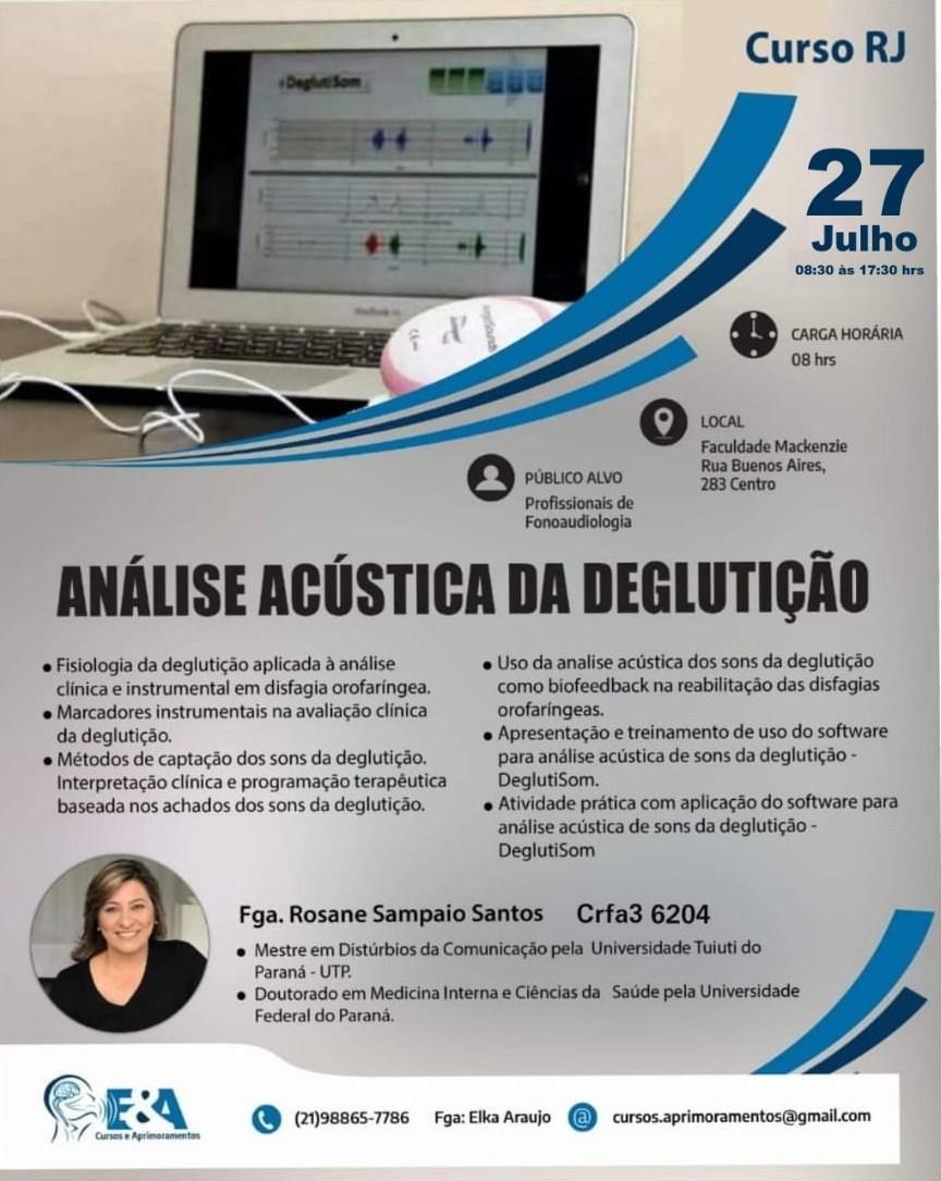 CursoRosaneRJa Curso no Rio de Janeiro, Julho 2019